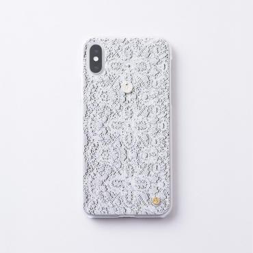 iphoneケース for  X / XS   レース × Inscribed イニシャル