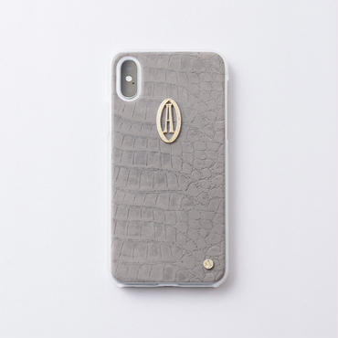 iphoneケース for X / XS  クロコ × Relife イニシャル
