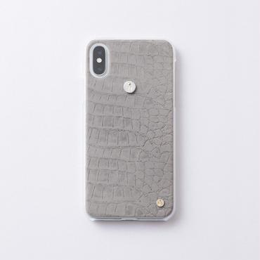 iphoneケース for X / XS  クロコ × Inscribed イニシャル
