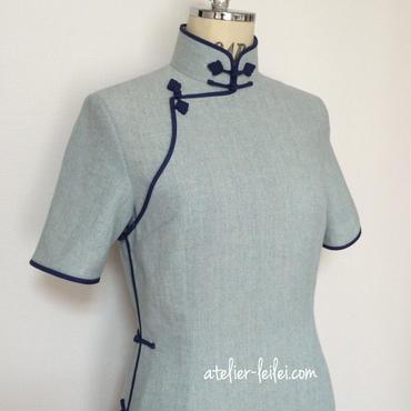 綿麻のチャイナドレス