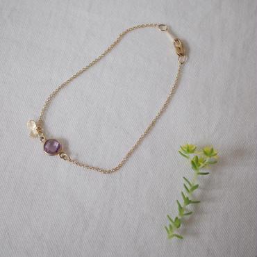 天然石の花びらブレスレット