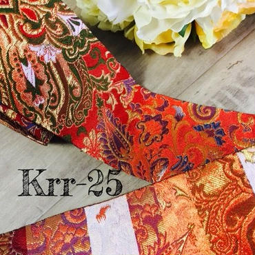 京都 金襴リボン  赤に華やかな金