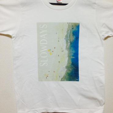 SLOW DAYS オフィシャルTシャツ(ホワイト)