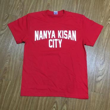 【受注製作商品】atleta nanyakisancity T-shirt ナンヤキサンシティTシャツ レッド (プリントホワイト)