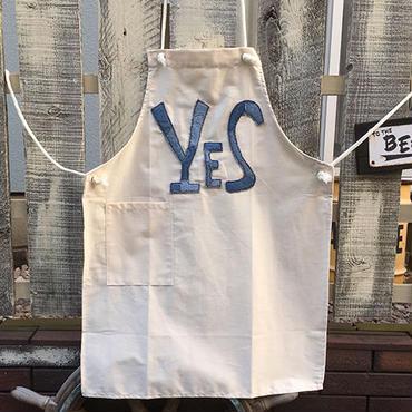 デニム「YES」ワッペンエプロン