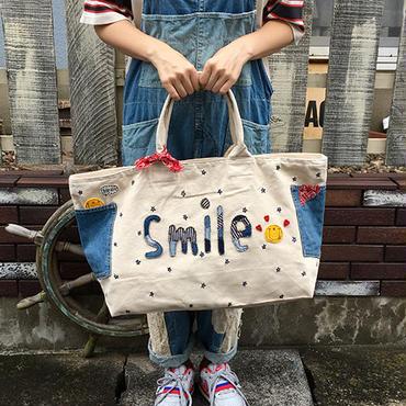「smileスター」ボストンバッグ(ナチュラル)
