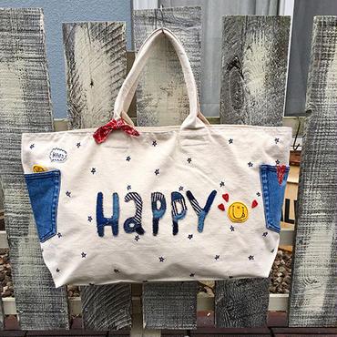 「HAPPYスター」ボストンバッグ(生成)
