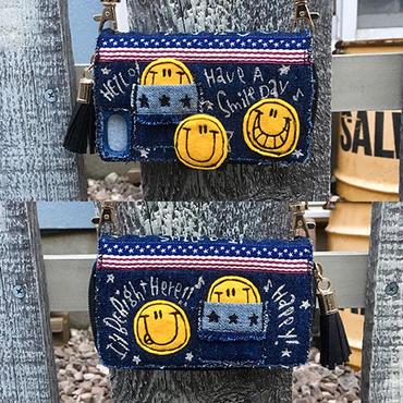 アメリカンスマイルお財布一体型iPhoneケースショルダー