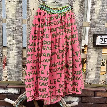 メッセージプリントメッシュスカート