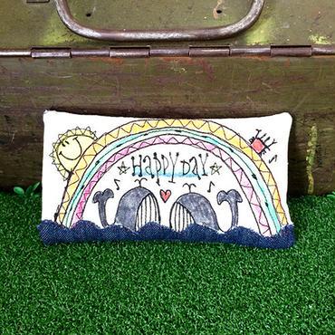 ペアクジラ刺繍メガネケース