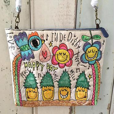 パイナップル&フラワー刺繍ショルダー