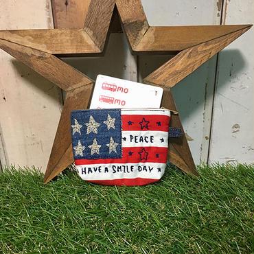 アメリカンボーダー刺繍パスケース