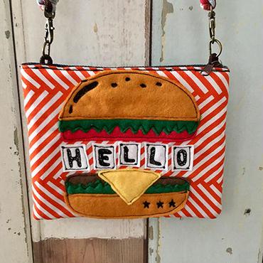 ハンバーガーショルダーポーチ