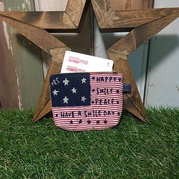 アメリカン刺繍パスケース
