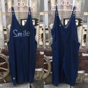 【セレクト加工】Smileワッペンサロペット