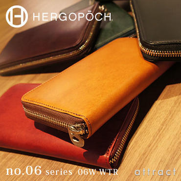 HERGOPOCH エルゴポック no.06 Waxed Leather ラウンドファスナー長財布 06W-WTR