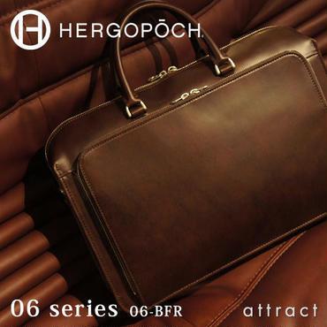 HERGOPOCH エルゴポック no.06 Waxed Leather フロントジップ 2wayブリーフケース  06-BFR