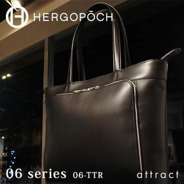 HERGOPOCH エルゴポック no.06 Waxed Leather フロントジップ トートバッグ 06-TTR