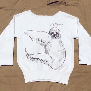 【on champion】OMA overdrawing トレーナー|sweatshirt 50 mutation length(2top)ナマケモノ|sloth