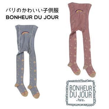 BONHEUR DU JOUR  レインボー&レインドロップス柄タイツ(18001)