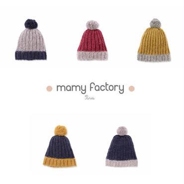 mamy factory ボンボン付手編みニットキャップ (15010)