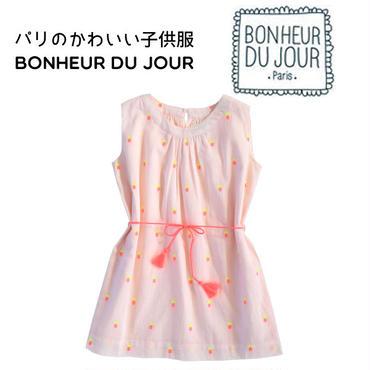 BONHEUR DU JOUR 刺繍入りワンピース(16082)