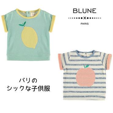 BLUNE パリの子供服フルーツ柄Tシャツ(16107)