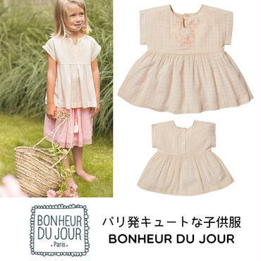BONHEUR DU JOUR パリの子供服 刺繍入りブラウス(17012)