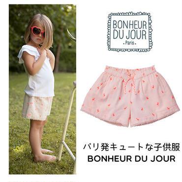 BONHEUR DU JOUR パリの子供服 刺繍入りショートパンツ(17006)