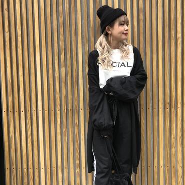 シンプルたぽ袖ロングカーデ