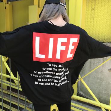 ミニ裏スウェット「LIFE」