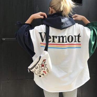 ミニ裏バイカラースウェット「Vermont」