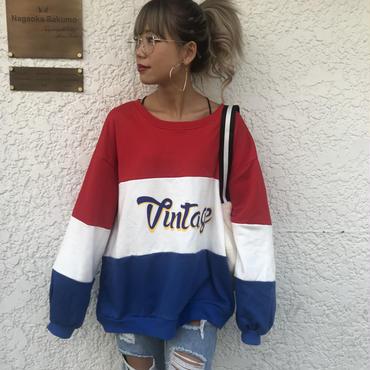 トリコロールスウェット「vintage」