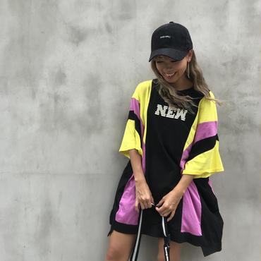 バイカラーBIGTシャツ「new」