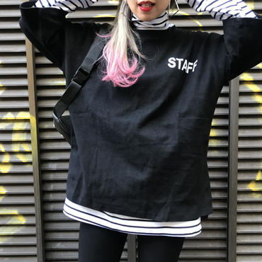 肉厚ストレッチTシャツ「STAFF」