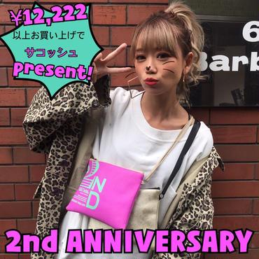 2nd Anniversary「選べるサコッシュ」プレゼント🎁