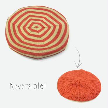 リバーシブルベレー帽 ボーダー×無地  メンズ&レディース