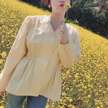 【春の新作】Pastel Blouse【Yellow 】