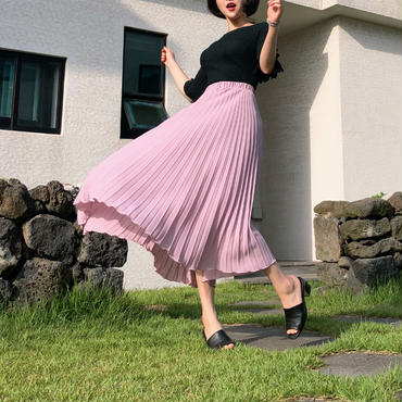 上品❤️Chiffon Long Skirt ( 再入荷!)