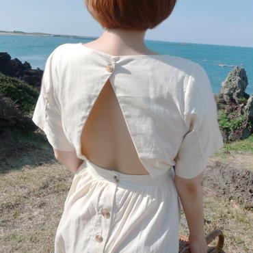 Back open Linen Onepiece