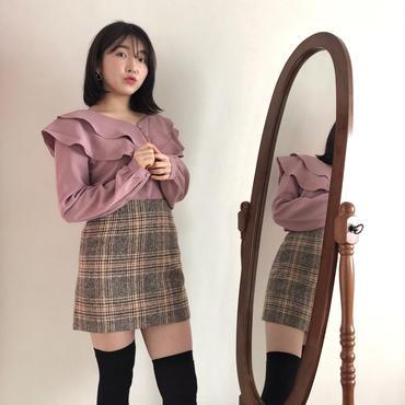 【春の新作】Cutie check skirt 【セット割あり】