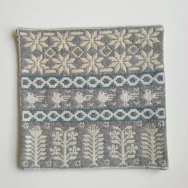 ヤノフ村の織物 クッションカバー 鳥と幾何学模様(37×37cm) #2149