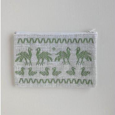 オアハカの手織り サン・マテオのポーチ(M) トリ、リス