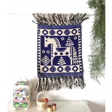 ヤノフ村の織物 タペストリー 小さな馬(22×24cm) #2353