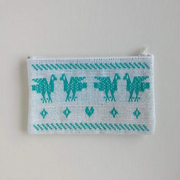オアハカの手織り サン・マテオのポーチ(M) トリ、ウサギ