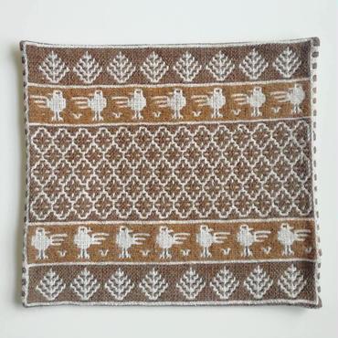 ヤノフ村の織物 クッションカバー 鳥と幾何学模様(42×39cm) #2212