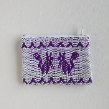 オアハカの手織り サン・マテオのポーチ(S) リスとヤギ