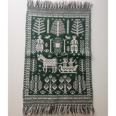 ヤノフ村の織物 タペストリー 村の暮らし(46×68cm) #2023
