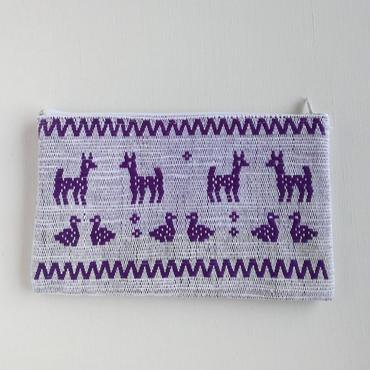 オアハカの手織り サン・マテオのポーチ(L) シカ、アヒル、リス