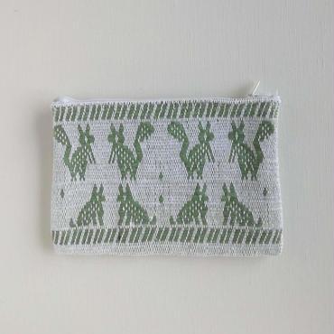 オアハカの手織り サン・マテオのポーチ(M) リス、ウサギ、トリ、キツネ